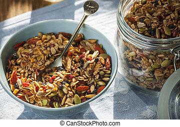 Morning homemade granola