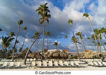 Morning in caribbean beach