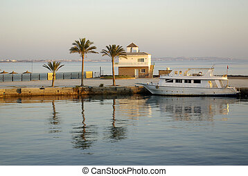 Morning in Egypt on the Red Sea