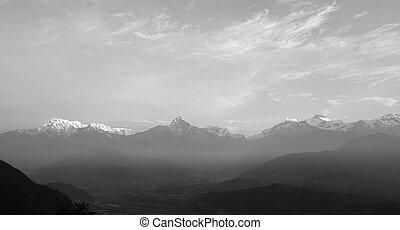 Morning in the Himalaya Mountains