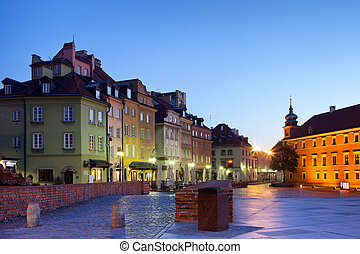 Morning in the Old Town of Warsaw