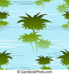morning jungles seamless pattern