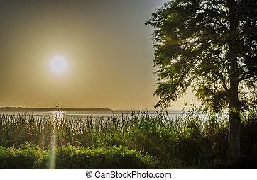Morning Lake Sunrise