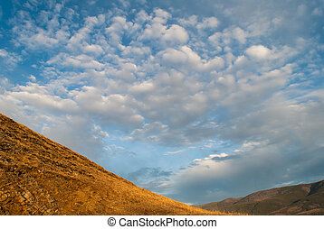 Morning landscape with cloud