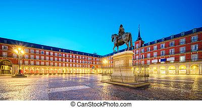 Morning Light at Plaza Mayor in Madrid