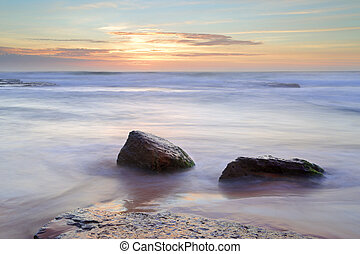 Morning light over the ocean at Bungan Beach Newport