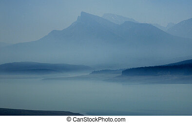 MORNING MIST IN THE ROCKIES