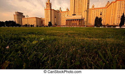 morning Moscow State University grass slider