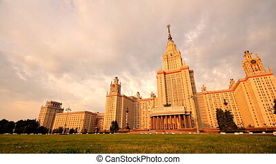 morning Moscow State University slider