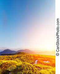 morning mountain landscape