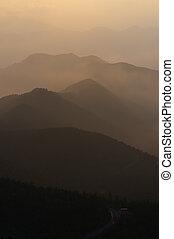 Morning Mountains from Mt.NORIKURA