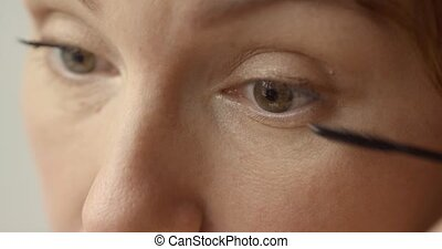 Morning nice make-up - Close up portrait of woman s face....