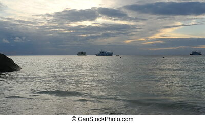 Morning ocean landscape