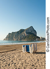 Morning on Calpe beach