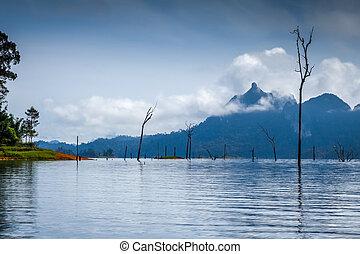 Morning on Cheow Lan Lake, Khao Sok National Park, Thailand
