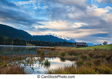 Morning on Geroldsee lake