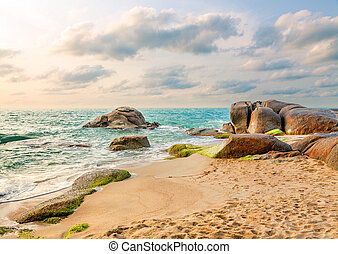 Morning on the island of Koh Samui