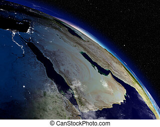 Morning over Arabian peninsula - Early morning on Arabian...