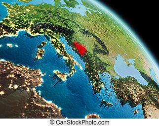 Morning over Bosnia and Herzegovina on Earth - Satellite...