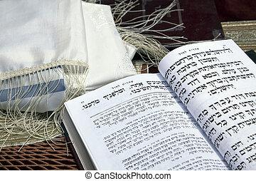 Morning Prayer - A Jewish praying shawil and a Jewish prayer...