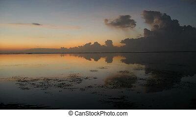 Morning scenery of Sanur Beach, Bali