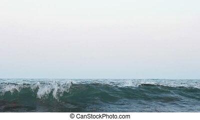 Morning sea surf