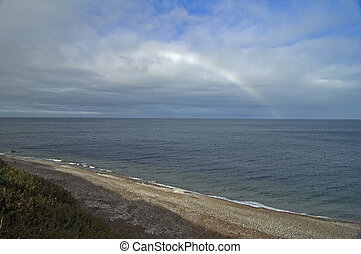 Morning Sky, Pleasant Bay, Cape Breton Highlands National Park, Nova Scotia, Canada