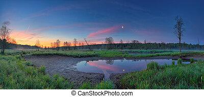 Panoramic morning landscape
