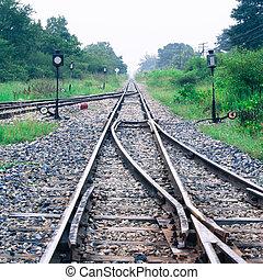 Morning. - The vintage railroad Kanchanaburi, Thailand
