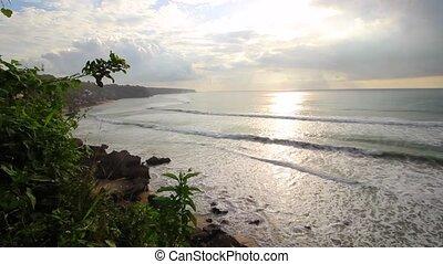 Morning summer ocean view panorama - Morning summer ocean...