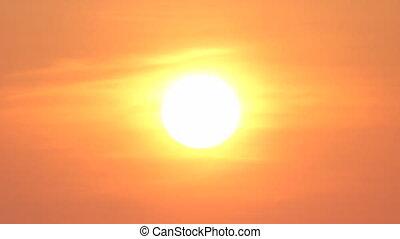 Morning sun evening