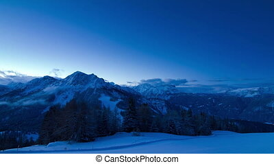 Morning sun mountains - Beautiful time lapse of the...