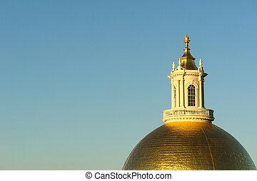 Morning Sun on golden dome