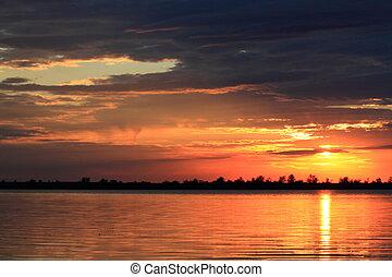 morning sunrise lake