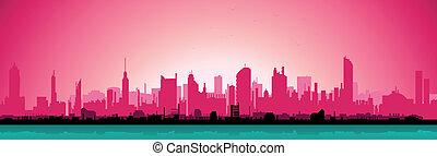 Morning Urban Landscape