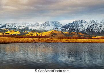 morning valley landscape