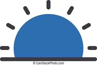 morning vector glyph flat icon