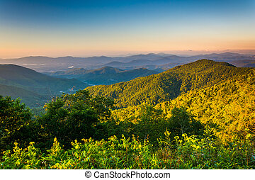 Morning view from the Blue Ridge Parkway in North Carolina.