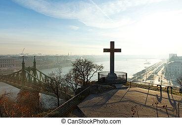 Morning view in Budapest, Gellert Hill