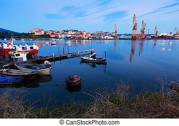 Industrial seaport of Santander
