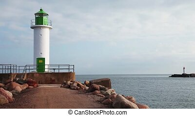 Morning view of Ventspils lighthouse - Morning view of...