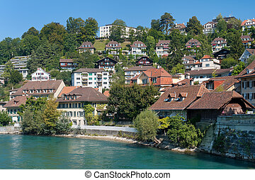 Morning view on old town of Bern