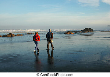 Morning Walk - A morning walk on the beach