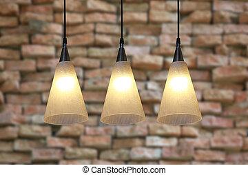 morno, mais claro, modernos, teto, lamps.
