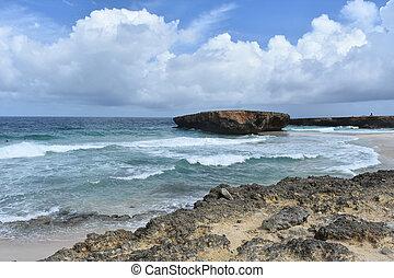Moro Rock Formation off Boca Keto Beach in Aruba