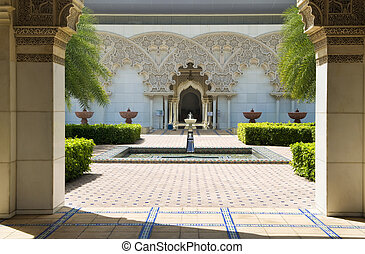 Moroccan Architecture Inner Garden. - Beautiful Moroccan...