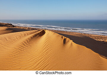 Moroccan coast - Atlantic coast in Western Sahara,Morocco