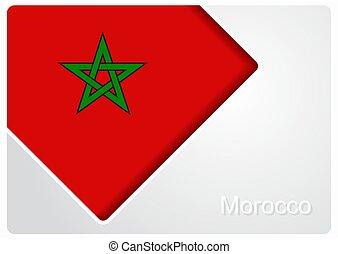 Moroccan flag design background. Vector illustration. -...