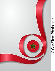 Moroccan flag wavy background. Vector illustration. -...