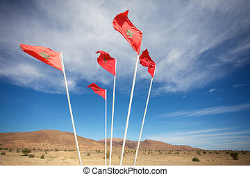 Moroccan flags